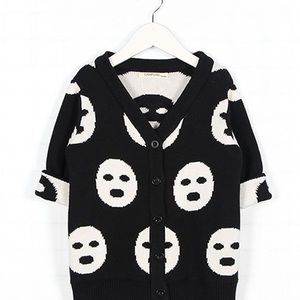 Other - Mask Print Cardigan Sweater